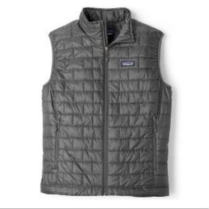 NWT Patagonia Men's Nano Puff Vest-Forge Gray
